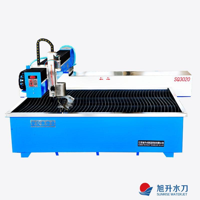 five axis A-C CNC waterjet cutting machine ...